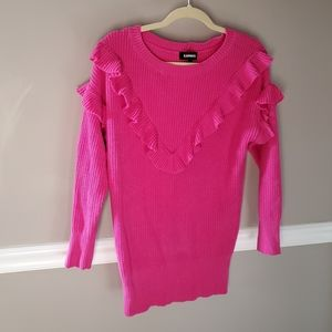 Express hot pink sweater